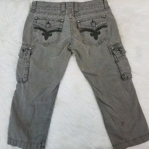 Rock Revival for Buckle Olive Green Cargo Capris